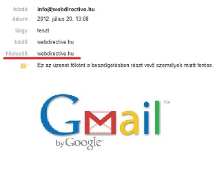 hiteles email